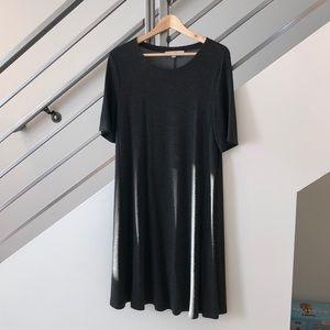 Loft Grey T-Shirt Dress